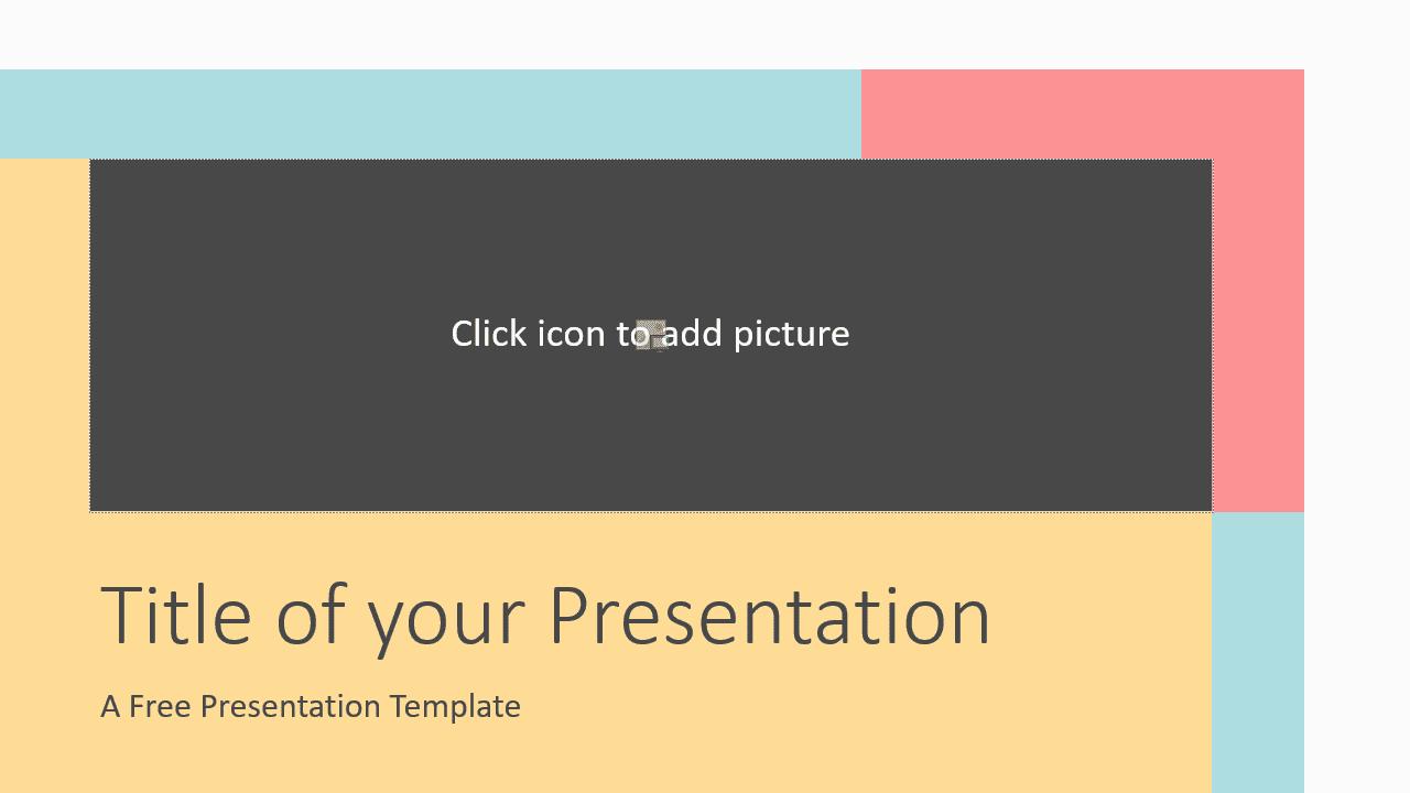 Free Framed Pastel Template for Google Slides - Cover Slide
