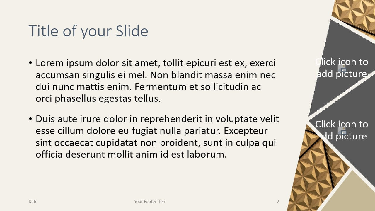 Free Deluxe Template for Google Slides – Title and Content Slide (Variant 1)