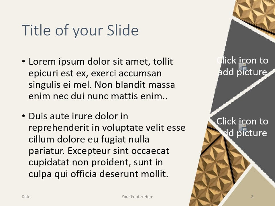 Free Deluxe Template for PowerPoint – Title and Content Slide (Variant 1)