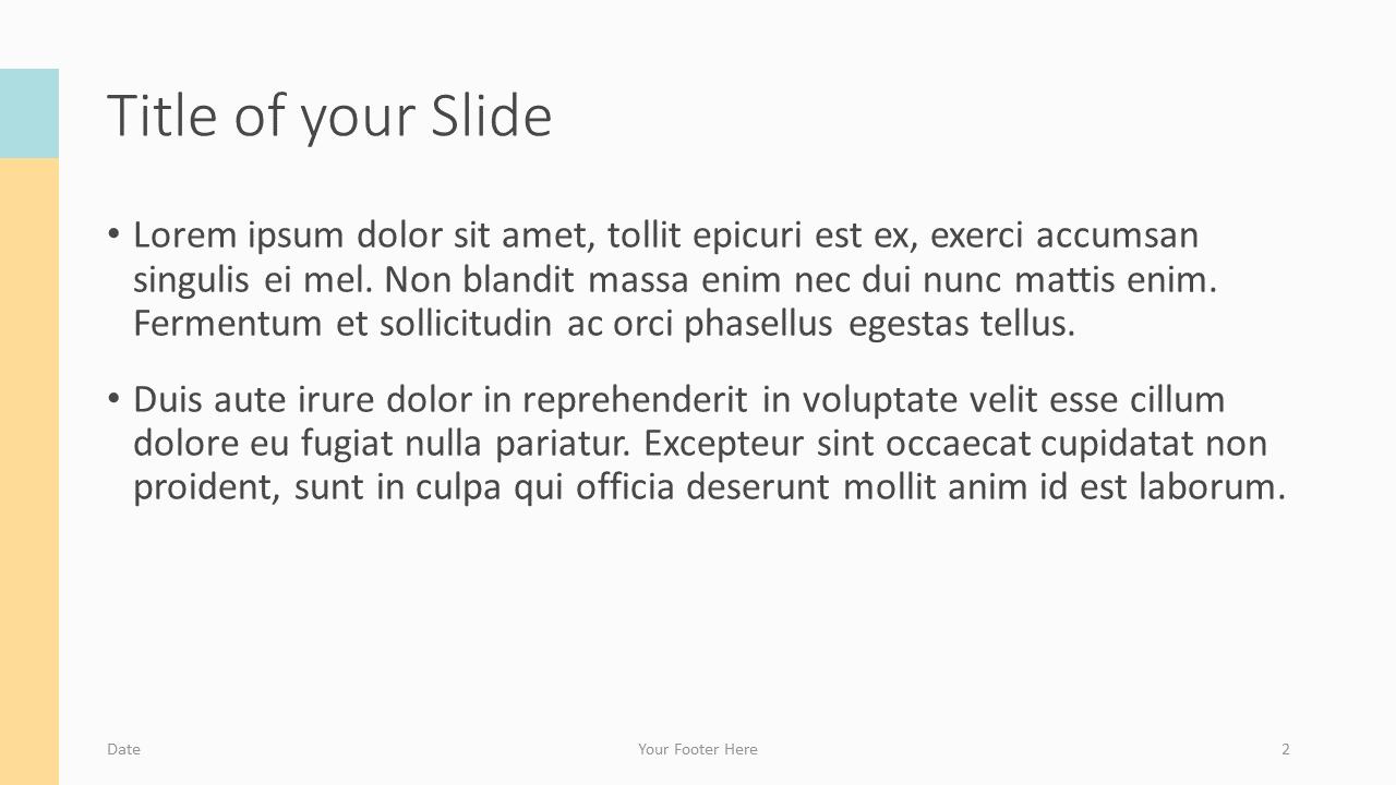 Free Framed Pastel Template for Google Slides – Title and Content Slide (Variant 1)
