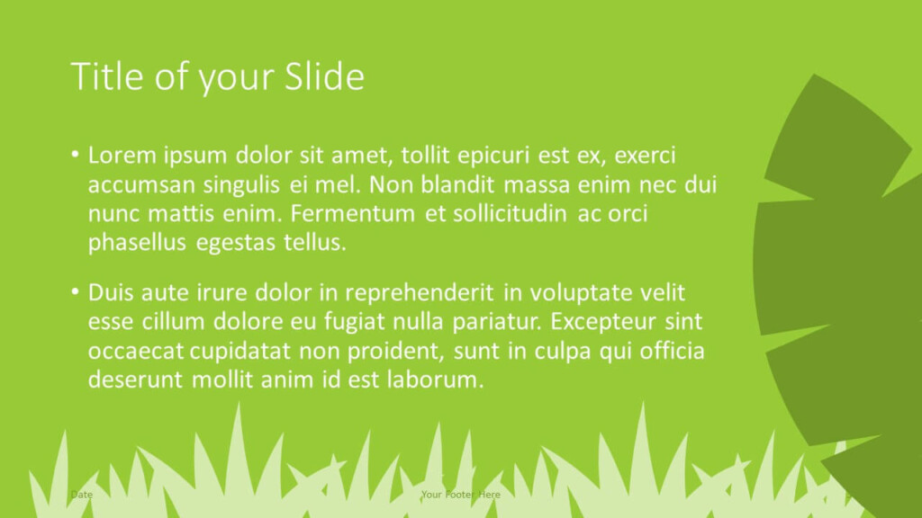 Free ECOLOGY Template for Google Slides – Title and Content Slide (Variant 2)