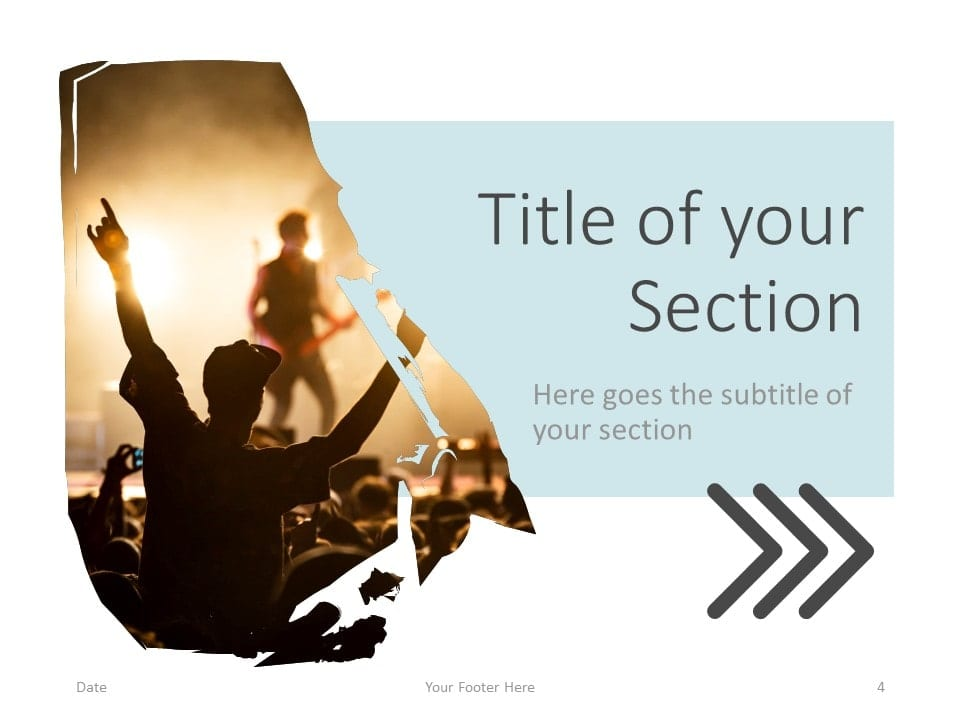 Free Concert Template for PowerPoint – Section Slide (Variant 1)