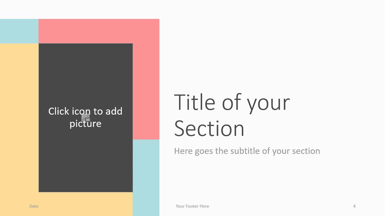 Free Framed Pastel Template for Google Slides – Section Slide (Variant 1)