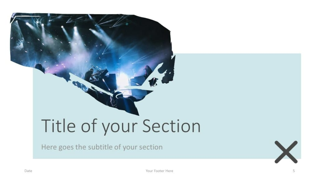 Free Concert Template for Google Slides – Section Slide (Variant 2)