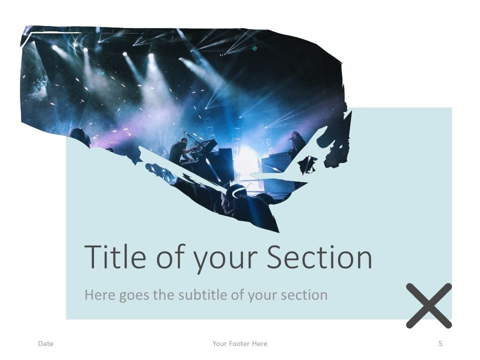 Free Concert Template for PowerPoint – Section Slide (Variant 2)
