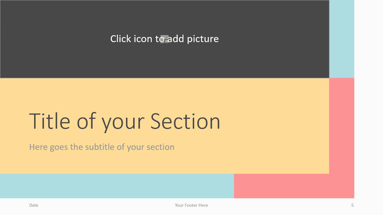 Free Framed Pastel Template for Google Slides – Section Slide (Variant 2)