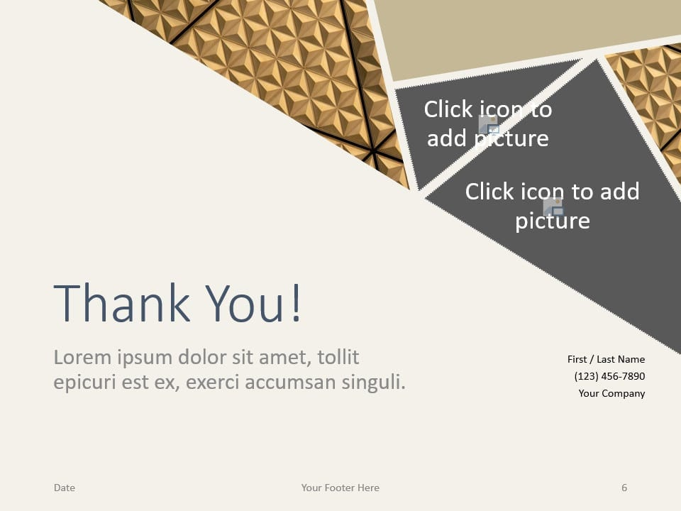 Free Deluxe Template for PowerPoint - Closing / Thank you