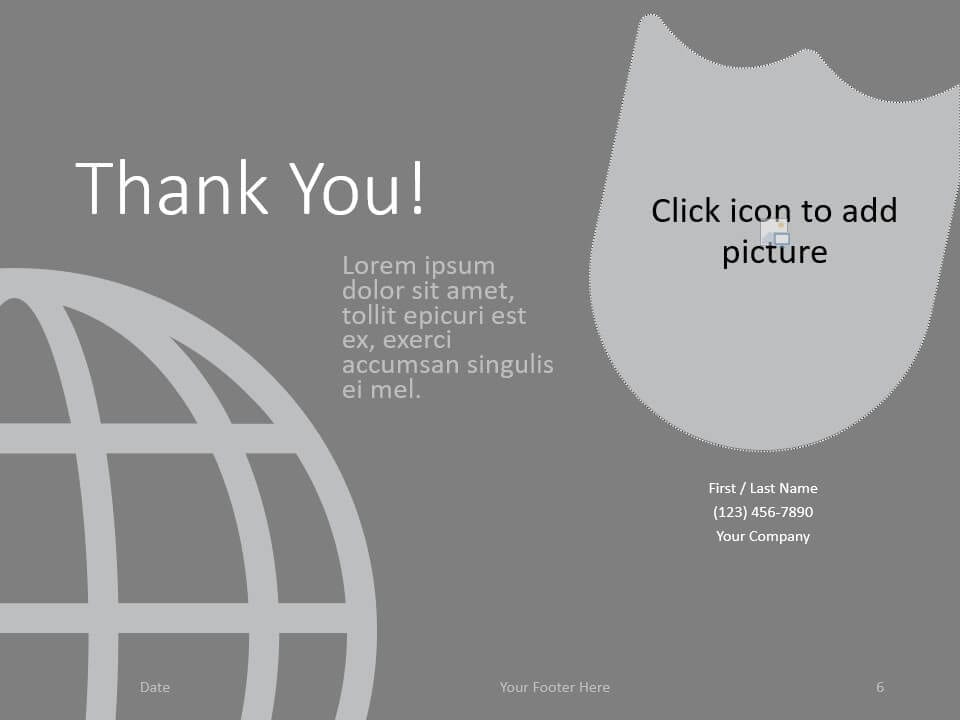 Free SECURITY Template for PowerPoint - Closing / Thank you