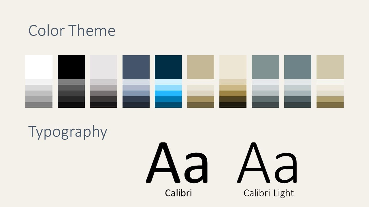 Free Deluxe Template for Google Slides – Colors and Fonts