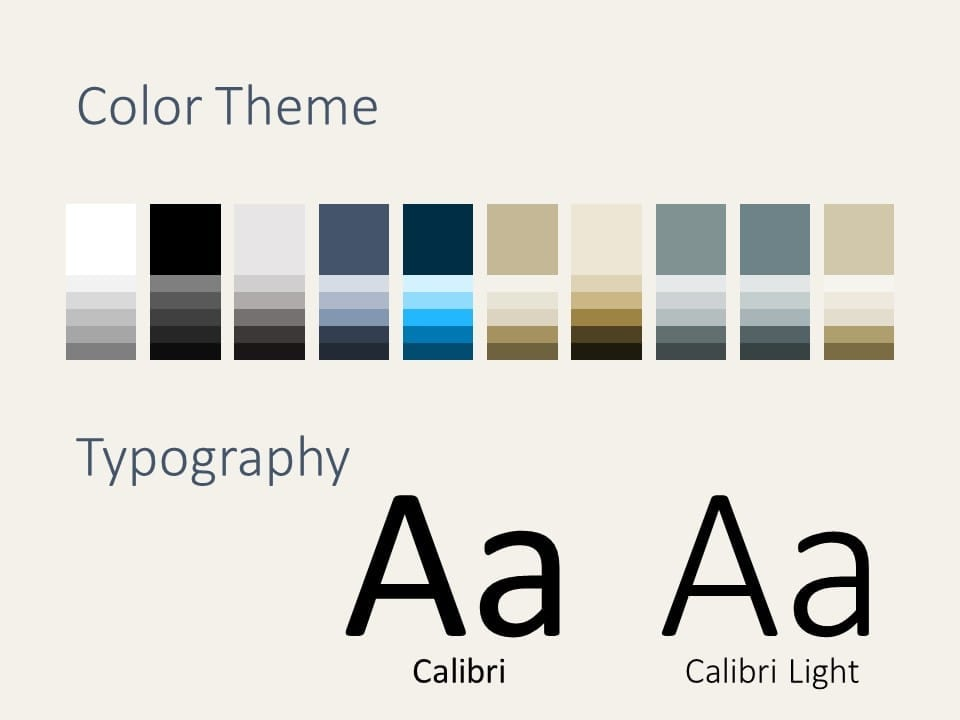 Free Deluxe Template for PowerPoint – Colors and Fonts