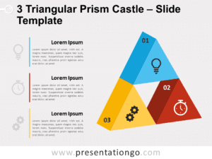 Free 3 Triangular Prism Castle for PowerPoint