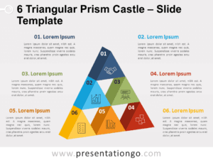 Free 6 Triangular Prism Castle for PowerPoint