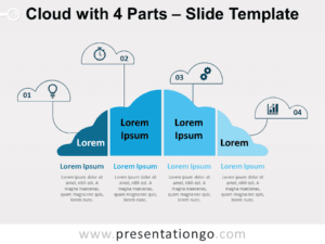 Free Cloud with 4 Parts for PowerPoint