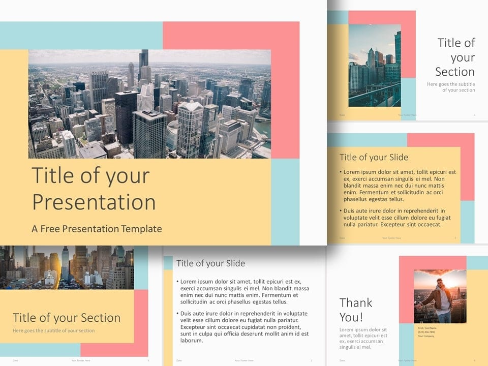 Free Framed Pastel Template for PowerPoint and Google Slides