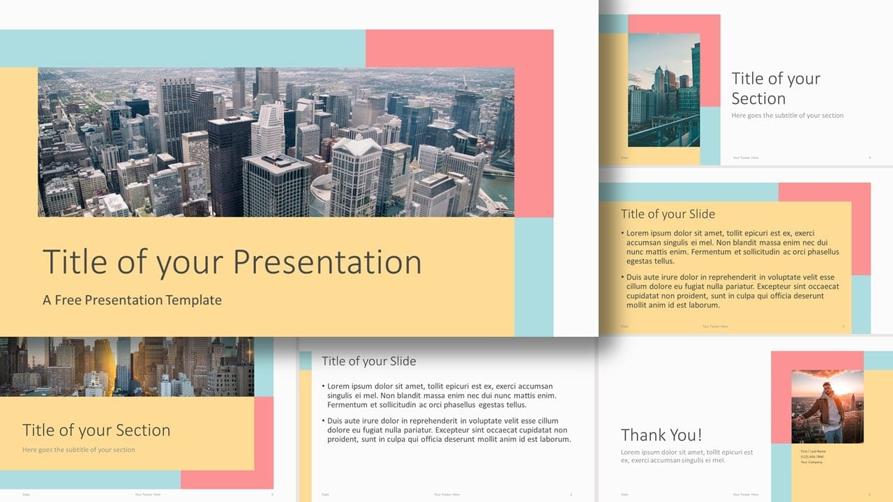 Free Framed Pastel Template for Google Slides and PowerPoint