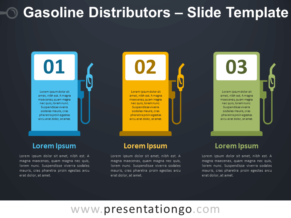 Free Gasoline Distributors Infographic for PowerPoint
