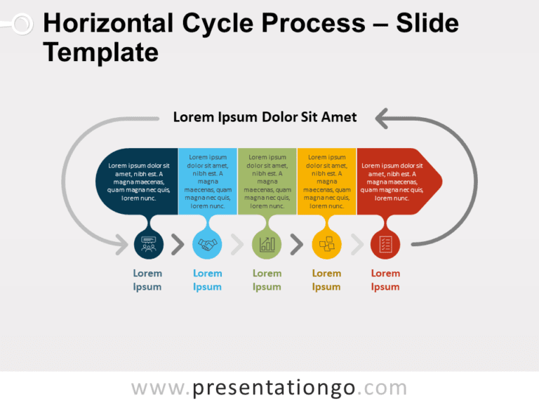 Free Horizontal Cycle Process for PowerPoint