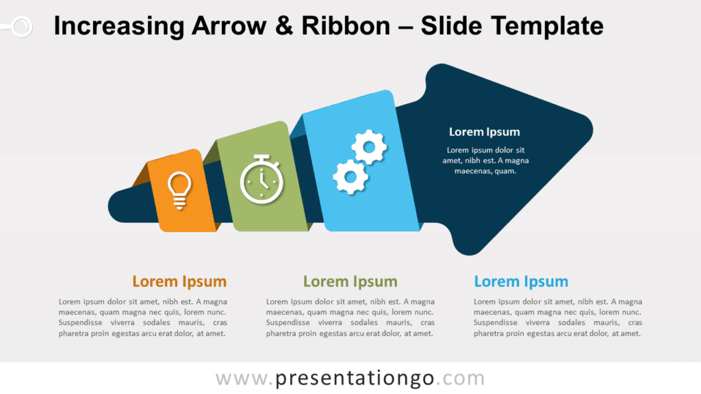 Free Increasing Arrow & Ribbon for PowerPoint and Google Slides