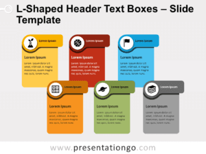 Free L-Shaped Header Text Boxes for PowerPoint