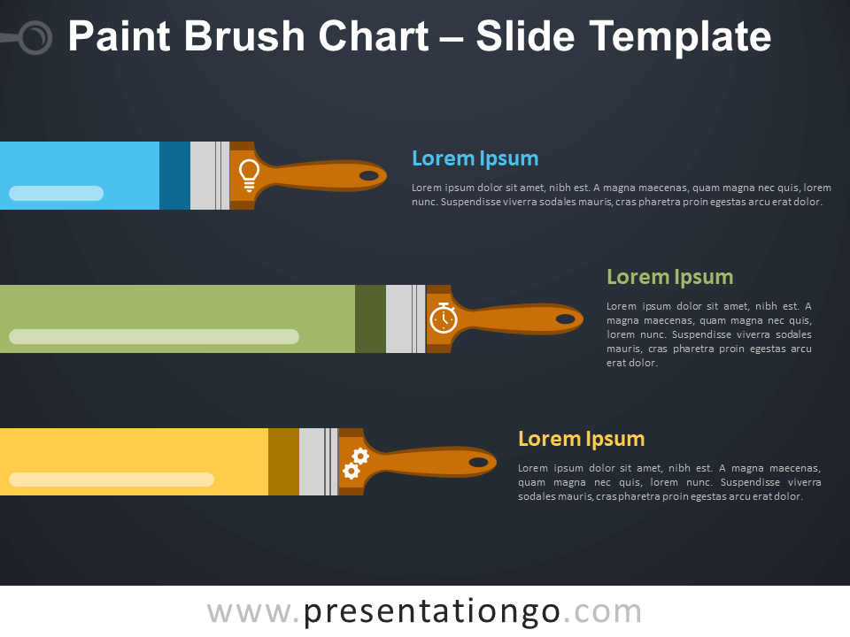 Free Paint Brush Chart Infographic for PowerPoint