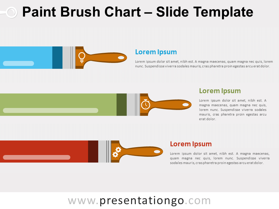Free Paint Brush Chart for PowerPoint