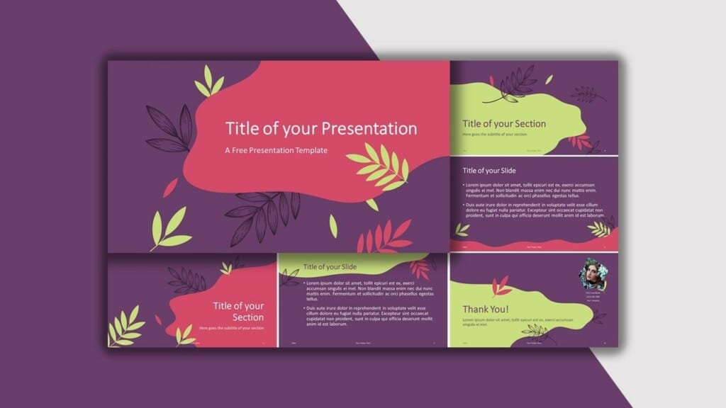 Purple Template for your PowerPoint Presentation