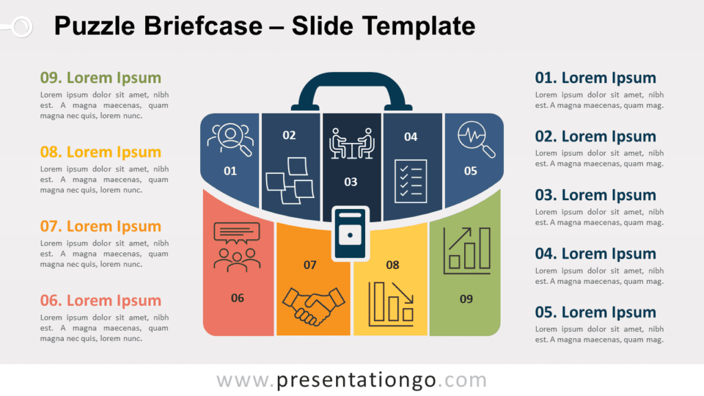 Free Puzzle Briefcase for PowerPoint and Google Slides