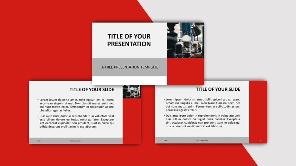 Red Template for your PowerPoint Presentation