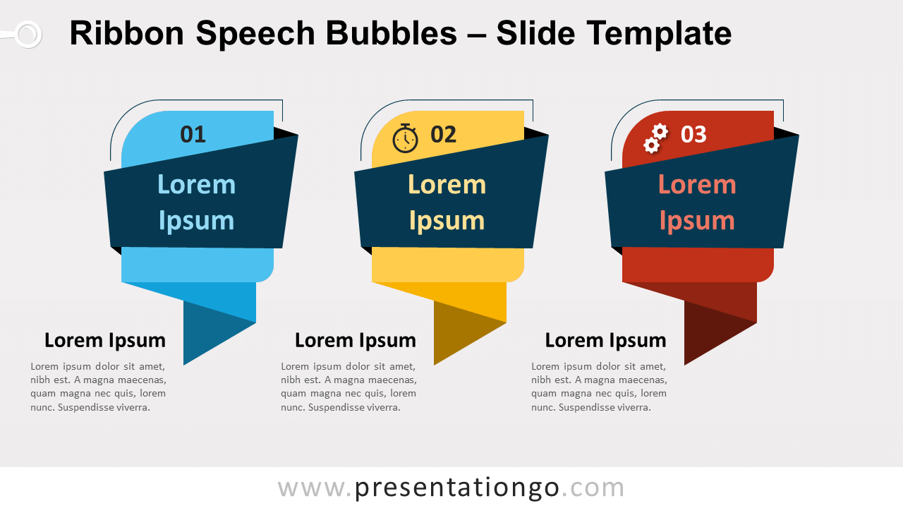 Free Ribbon Speech Bubbles for PowerPoint and Google Slides