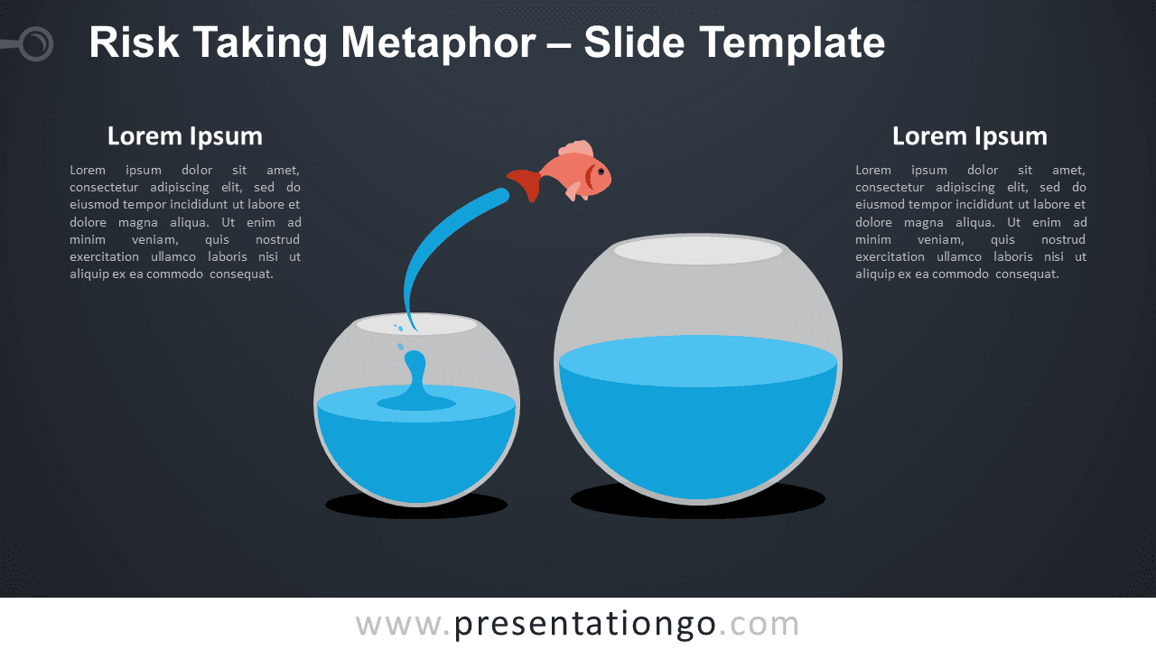 Free Risk Taking Metaphor Infographic for PowerPoint and Google Slides