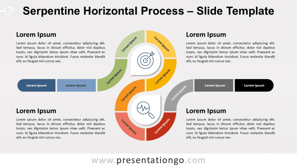 Free Serpentine Horizontal Process for PowerPoint and Google Slides