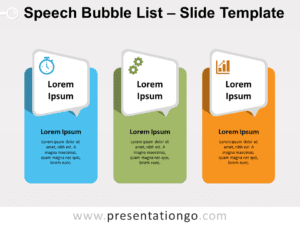 Free Speech Bubble List for PowerPoint