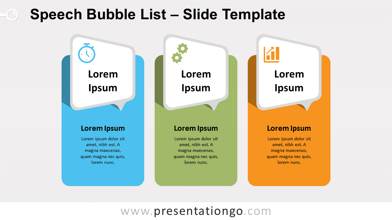 Free Speech Bubble List for PowerPoint and Google Slides