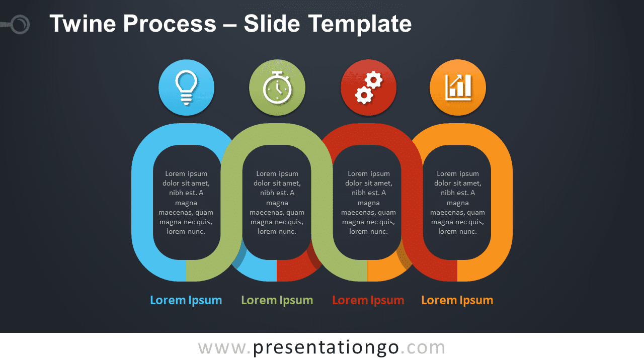 Free Twine Process Infographic for PowerPoint and Google Slides