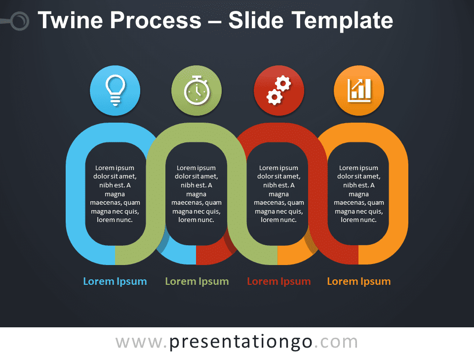 Free Twine Process Infographic for PowerPoint