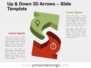 Free Up & Down 3D Arrows for PowerPoint