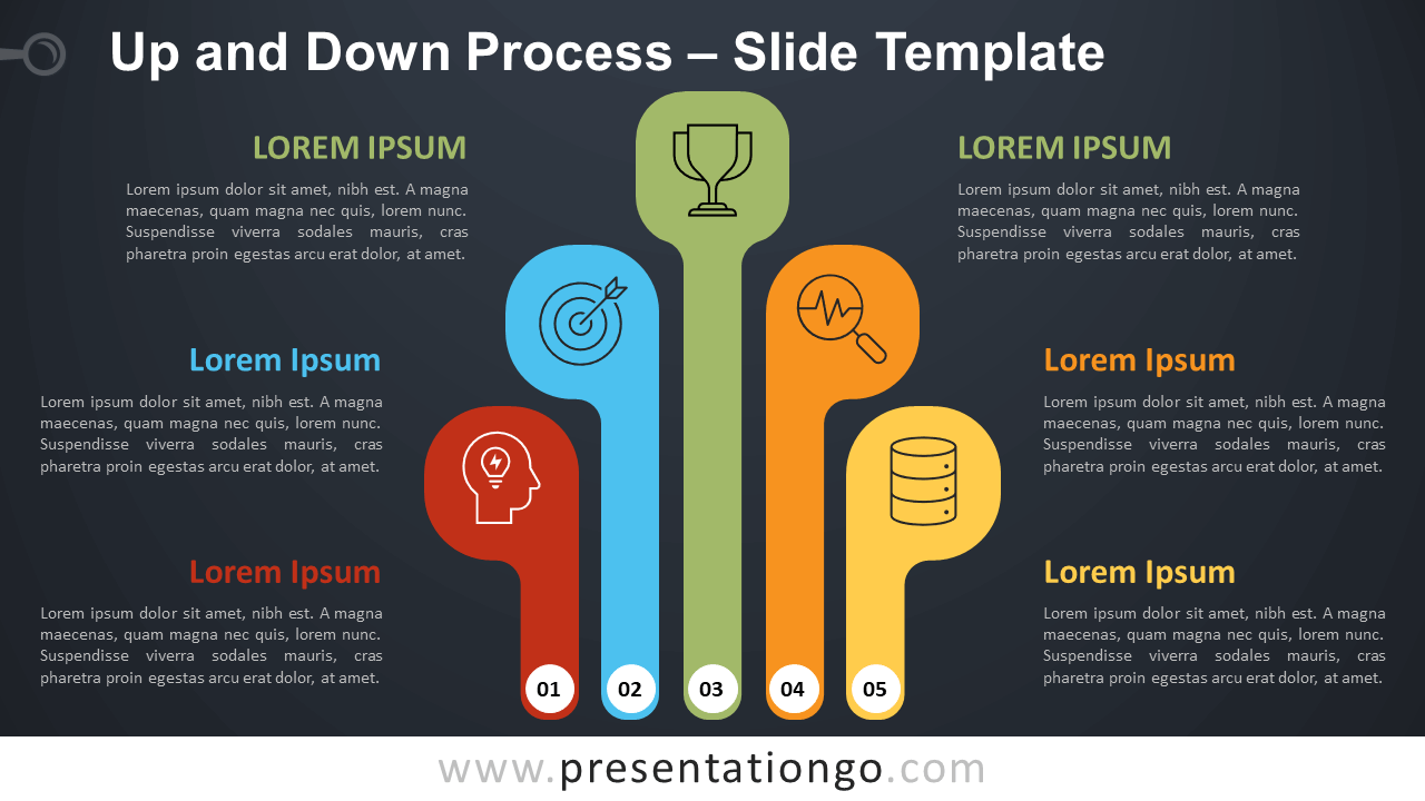 Free Up and Down Process Infographic for PowerPoint and Google Slides