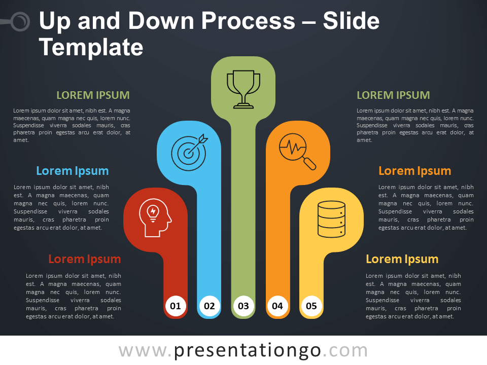 Free Up and Down Process Infographic for PowerPoint