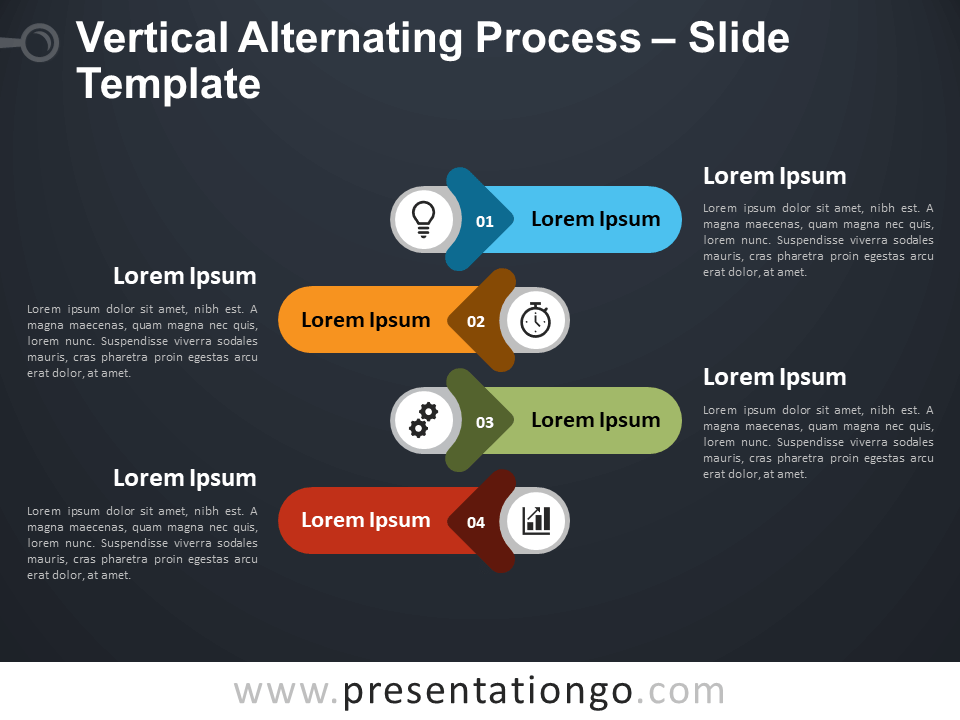 Free Vertical Alternating Process Infographic for PowerPoint