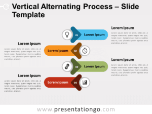 Free Vertical Alternating Process for PowerPoint