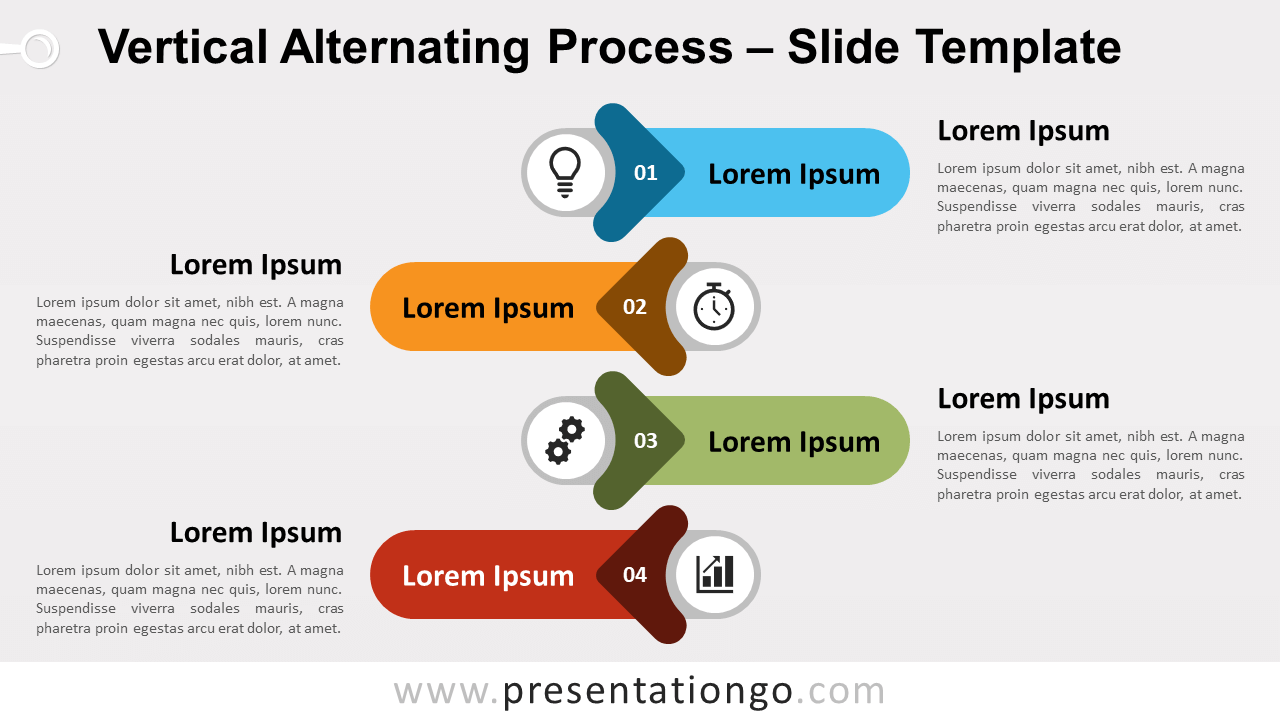 Free Vertical Alternating Process for PowerPoint and Google Slides
