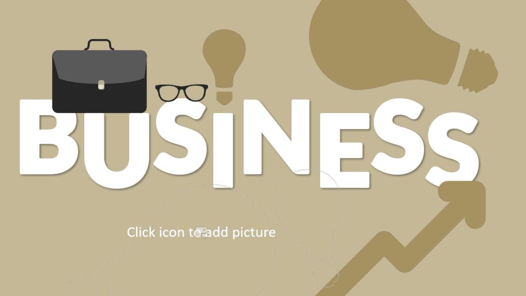 Free BUSINESS Template for Google Slides - Cover Slide