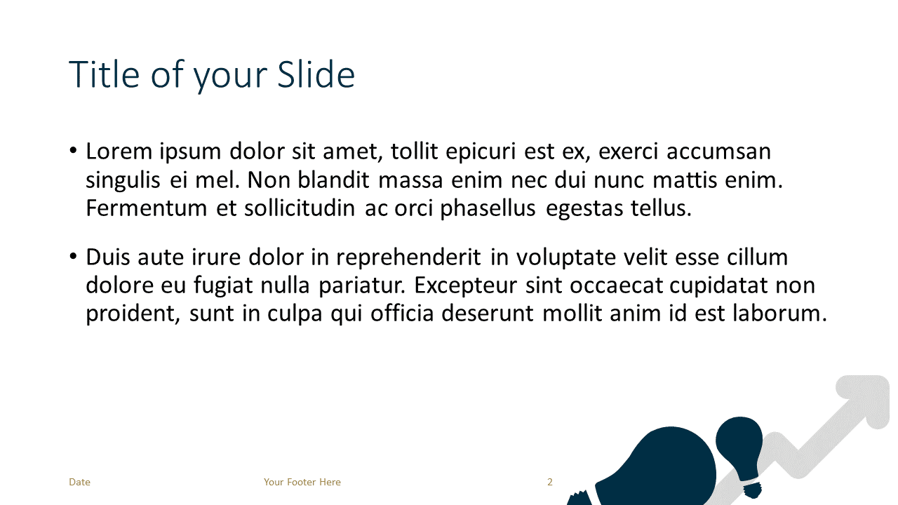 Free BUSINESS Template for Google Slides – Title and Content Slide (Variant 1)