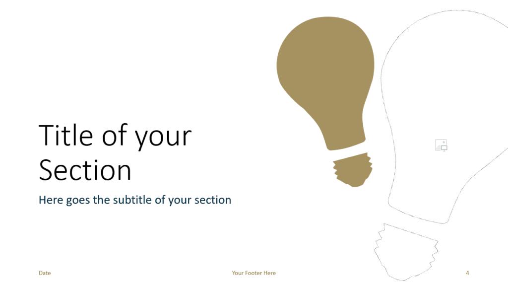 Free BUSINESS Template for Google Slides – Section Slide (Variant 1)