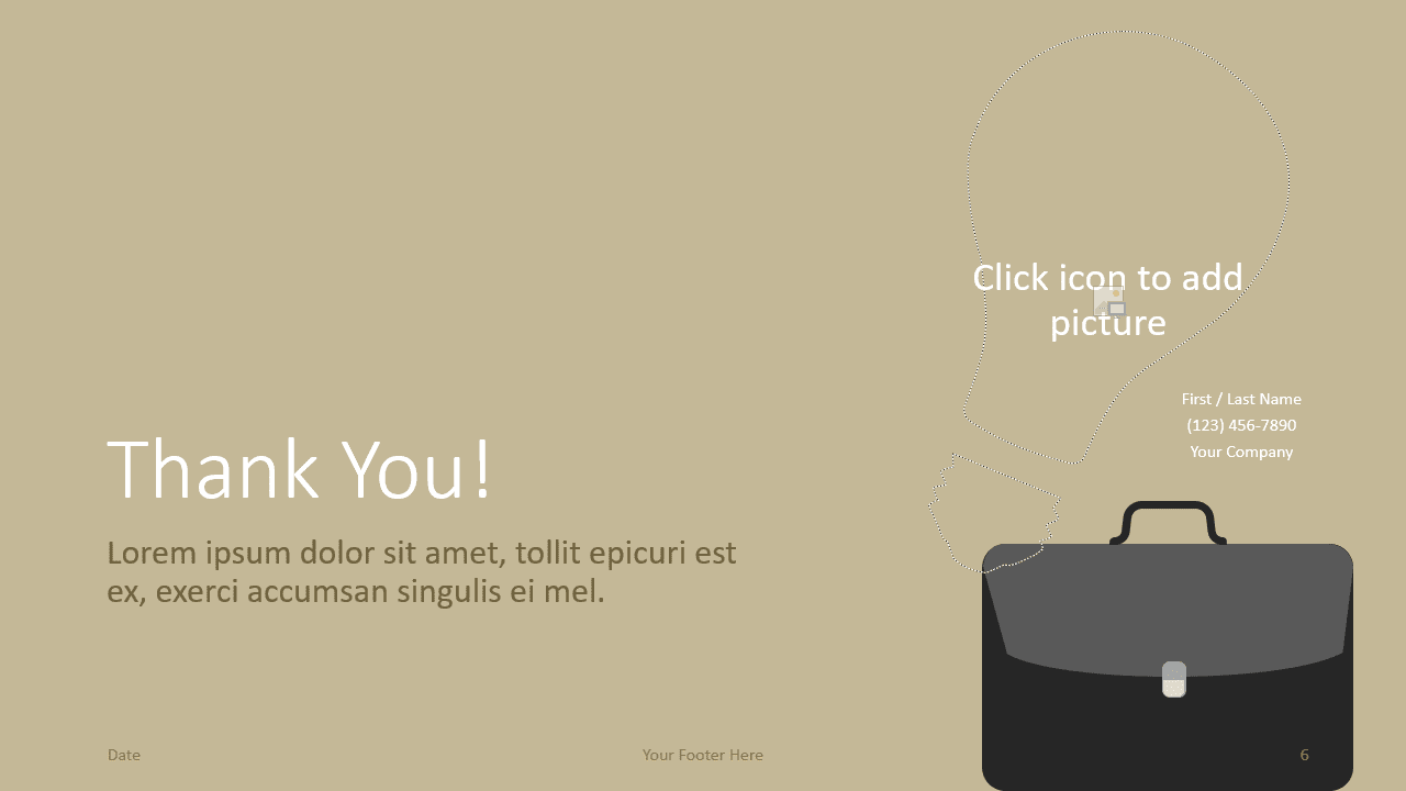 Free BUSINESS Template for Google Slides - Closing / Thank you