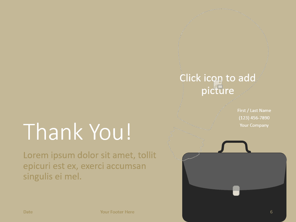 Free BUSINESS Template for PowerPoint - Closing / Thank you