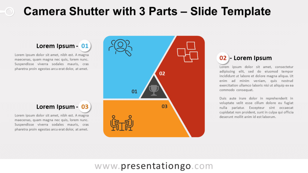 Free Camera Shutter with 3 Parts for PowerPoint and Google Slides
