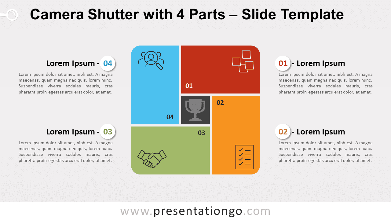 Free Camera Shutter with 4 Parts for PowerPoint and Google Slides