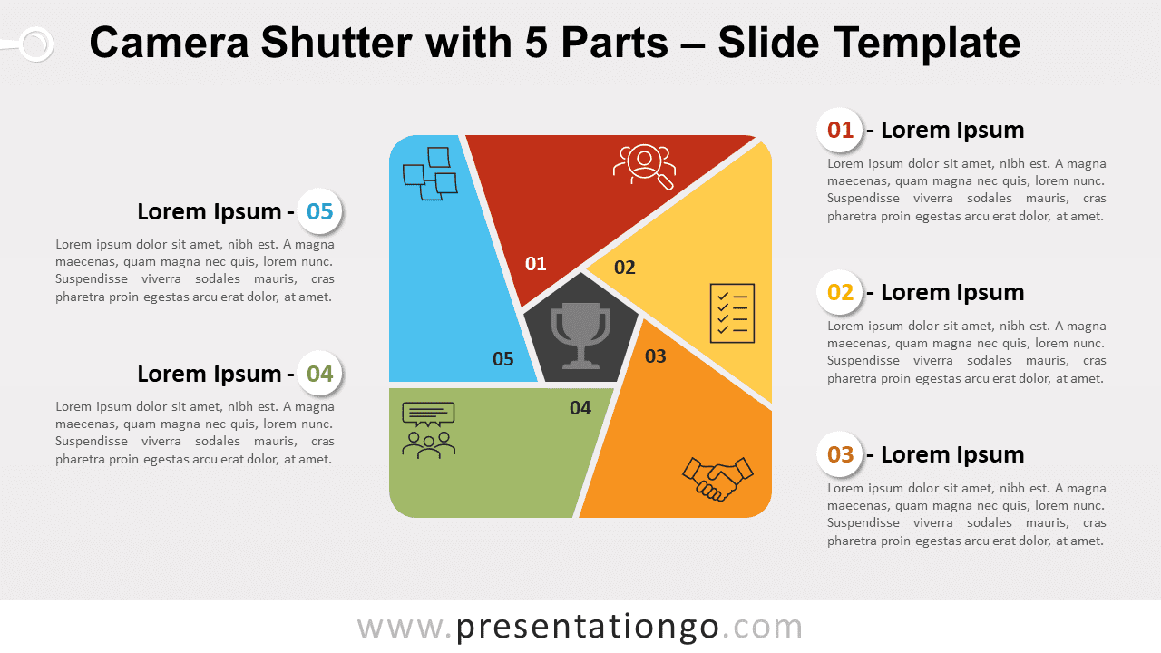 Free Camera Shutter with 5 Parts for PowerPoint and Google Slides