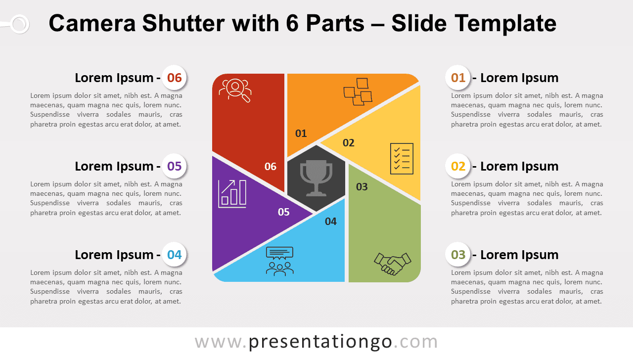 Free Camera Shutter with 6 Parts for PowerPoint and Google Slides